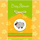cute baby shower card with sheep