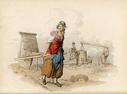 THE BRICK MAKER The brick trade employs many women and children, generally under wretched conditions : the work is laborious, often performed by entir...