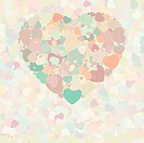 Abstract vintage heart background. EPS 8