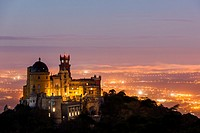 The Pena National Palace, Sintra, Portugal, Europe.