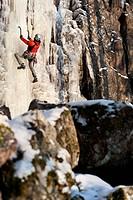 Climbing man
