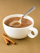 Cinnamon-flavored hot chocolate
