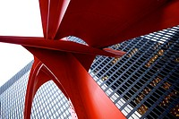 Alexander Calder's Flamingo, in the Federal Plaza in Chicago.