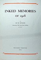 Inked Memories of 1918 by Herbert Morton Stoops, 6th Field Artillery, AEF. Privately printed 1924 by The Jell-0 Company Inc., Le Roy, New York. 16 bla...
