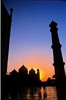 Sunset at Taj Mahal, Agra, Uttar Pradesh State, India