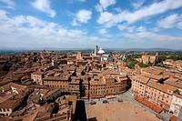 Italy, Tuscany, Siena, Piazza del Campo - Toskana; Toscana, Italien, 01/01/2009