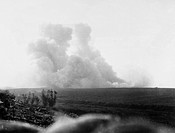 A huge mine is exploded at Hawthorne Ridge, near Beaumont Hamel, signalling the start of the Battle of the Somme. The massive explosion alerted the Ge...