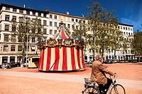 Carousel at Croix District, Lyon, France.