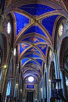 Church interior Santa Maria Sopra Minerva Rome Italy.