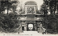 The highly ornate interior Gate of the Citadel at Lille, France, built c.1668. The citadel was part of a double line of fortified towns of Gravelines,...