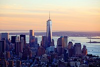 Manhattan seen from Empire State Building, New York City, USA.