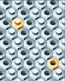 Bolts and screws 3D pattern