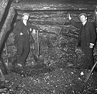 The General Manager and Manager of Baldwin's Level, Pontypool, South Wales, photographed in a mineshaft.