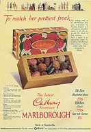 Advertisement for a box of delicious looking box of Marlborough chocolates from Cadburys in a box which is so pretty, the advert suggests it could 'ma...