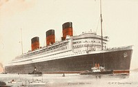 RMS Queen Mary of the Cunard White Star Line, which sailed primarily across the Atlantic between 1936 to 1967.