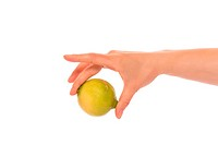Hand with lemon
