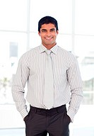 Businessman smiling at the camera