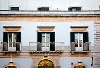 Balconies of a house, Alberobello, Bari, Puglia, Italy