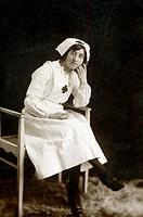 A British nurse from the early twentieth-century.
