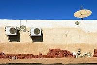 Bricks antenna and fan - Dahab, Sinai Peninsula - Egypt.