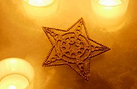 Star decoration and candles