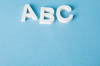 Letters A, B and C