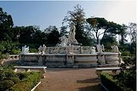 Palazzo del Principe, Neptune Fountain, by Carlone Taddeo, 1599, 16th Century, . Italy; Liguria; Genoa; Palazzo del Principe; parco. View. Neptune Fou...