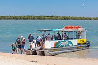 Australia, Queensland, Gulf of Carpentaria, Karumba Point, tour boat at the Norman River estuary, Gulf of Carpentaria.