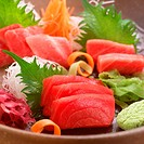 Sashimi in bowl