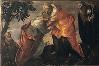 The Visitation, by Robusti Jacopo known as Tintoretto, 1588, 16th Century, Unknow. Italy, Veneto, Venice, Scuola Grande di San Rocco, altar. All. Wome...