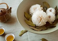 Chinese Tea and Dried Flowers