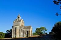 Saint Cross chapel, next to Montmajour Abbey, near Arles. Arles district, Bouches-du-Rhône department, Provence-Alpes-Côte d´Azur region, France, Euro...