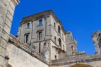 Montmajour Abbey, near Arles. Arles district, Bouches-du-Rhône department, Provence-Alpes-Côte d´Azur region, France, Europe.