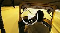 Auto rickshaw driver in Udaipur, Rajasthan, India.