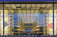 Main portal, Paul Loebe Building, government district, Berlin, Germany / Paul-Löbe-Haus