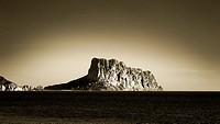 seascape of Calpe, Alicante, Spain.