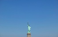 Statue of Liberty against clear blue sky. New York, USA