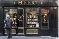 THE CHOCOLATE AND BONBON MAKER MEERT'S SHOP FOUNDED IN 1761, RUE GUENEGAUD, 6TH ARRONDISSEMENT, PARIS, FRANCE