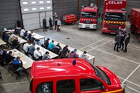 WRITTEN EXAM OF THE TEST IN THE VOLUNTEER FIREFIGHTERS DEPARTMENT RECRUITMENT CAMPAIGN, BERNAY, EURE (27), FRANCE