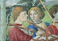 Frescoes of the Chapel of the Magi, by Benozzo di Lese di Sandro known as Benozzo Gozzoli, 15th Century, 1459 -1460 about, fresco, . Italy, Tuscany, F...