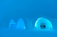 Entrance into the Ice Hotel in Jukkasjärvi, Lapland, Norrbotten County, Sweden, Scandinavia