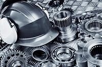 Engineering parts and hard-hat
