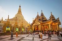 Myanmar , Yangon City,Shwedagon Pagoda,.