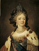 Empress Marija Fedorovna, by Anonymous, 19th Century, 1800, oil on canvas, cm 79 x 65. Russia, Moscow, Gosudarstvennyj Istoriceskij Muzej (State Histo...