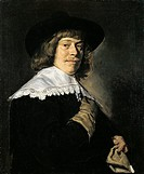 Portrait of a Man with a Glove, by Frans Hals, 1650, 17th Century, oil on canvas, 80 x 66,5 cm. Russia, St. Petersburg, The State Hermitage Museum. Wh...
