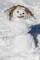 Snowman, Lesachtal, Carinthia, Austria