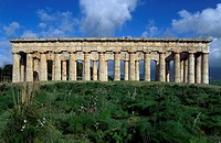 Temple of Segesta, Sicily, Italy. Greek civilisation, 5th century BC.