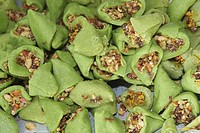 CANADA, MISSISSAUGA, 03.11.2013, Kaju Paan Barfi (a traditional Indian sweet made with paan) at a sweetshop during the festival of Diwali in Mississau...
