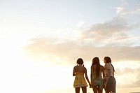 Young women standing side by side, Guam, USA