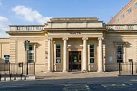 Lloyds TSB Bank branch, Rowcroft, Stroud, Gloucestershire, England, UK.